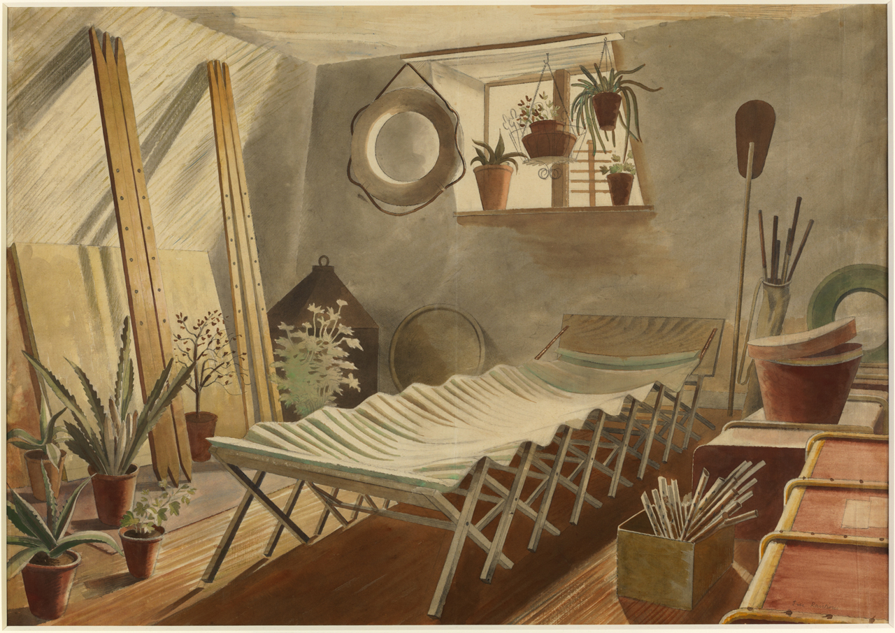 Work Of The Week 9: The Attic Bedroom By Eric Ravilious