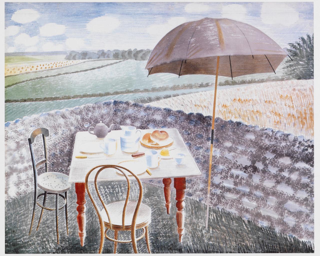 Work of the Week 30: Tea at Furlongs by Eric Ravilious